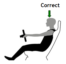 seating position for driving